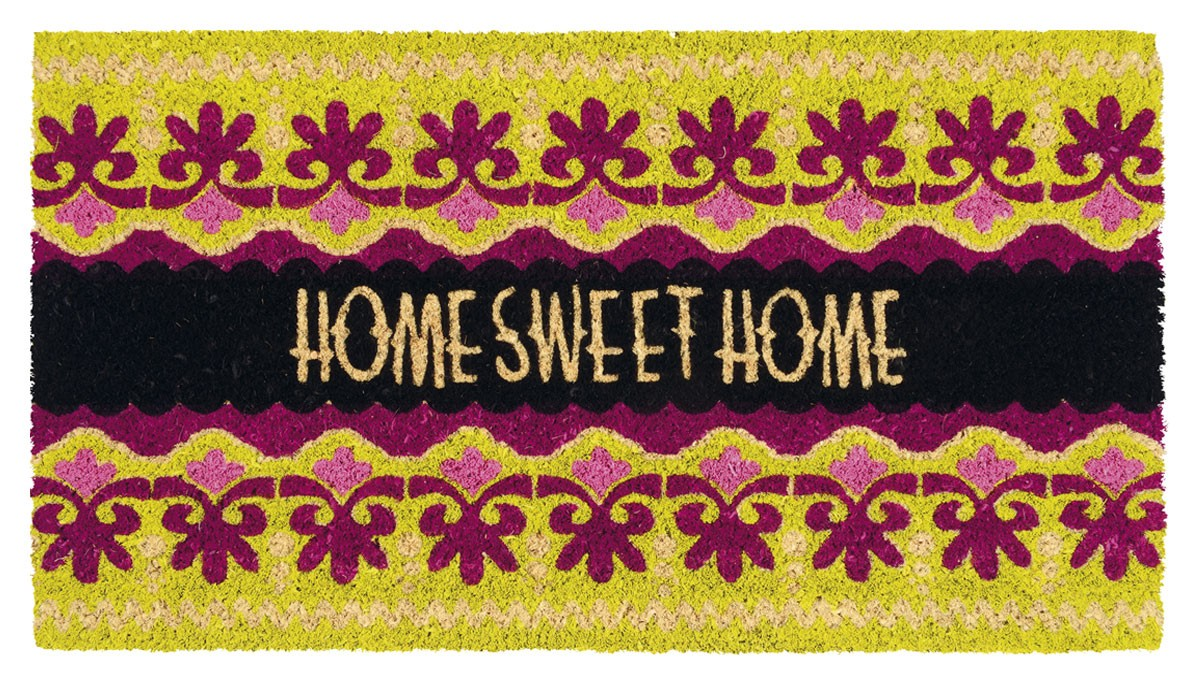 fu matte home sweet home kokos. Black Bedroom Furniture Sets. Home Design Ideas