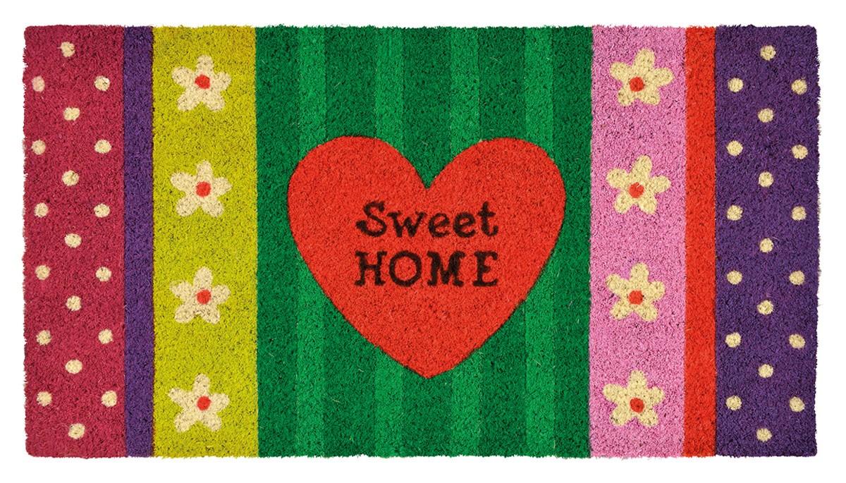 fu matte sweet home streifen kokos. Black Bedroom Furniture Sets. Home Design Ideas