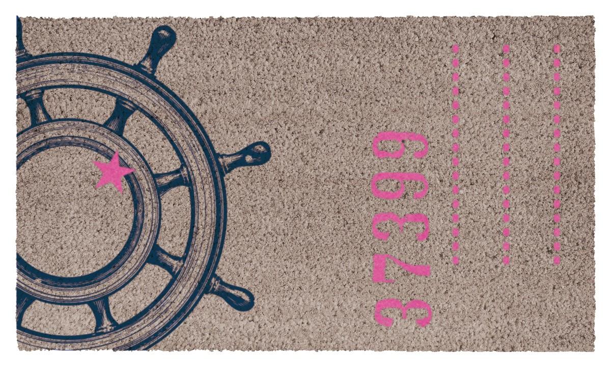 fu matte kokos maritime wheel. Black Bedroom Furniture Sets. Home Design Ideas