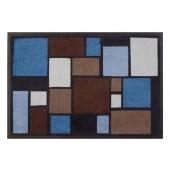 Fußmatte Easy Clean Mats Mosaik blau