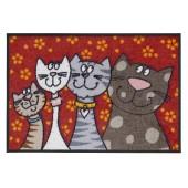 Fußmatte Salonloewe Katzenfamilie