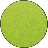Fußmatte Salonloewe Uni apfelgrün rund