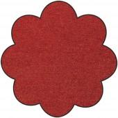 Fußmatte Salonloewe Uni terracotta Blume