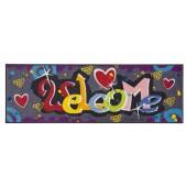 Fußmatte Salonloewe Welcome Graffiti XXL