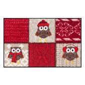 Fußmatte Salonloewe Winter Owls Red