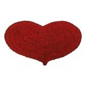 Kokosfußmatte Herz Wendematte rot