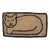 Kokosfußmatte Katze Wendematte rechteckig