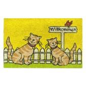 Kokosfußmatte Katzen