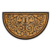 Kokosfußmatte Ruco Design halbrund