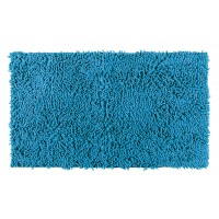 Badteppich Chenille blau