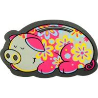 Fußmatte Flower Power Pig