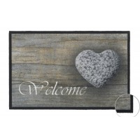 Fußmatte Mondial Welcome Stone Heart