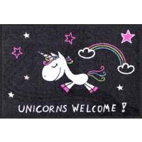 Fußmatte Unicorns Welcome Rainbow