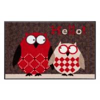 Fußmatte Salonloewe Design Eulen Lars & Lotte Rot 50cm x 75cm
