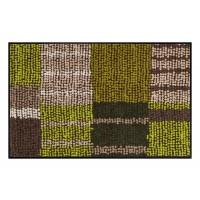 Fußmatte Salonloewe Aboriginee Stripes green