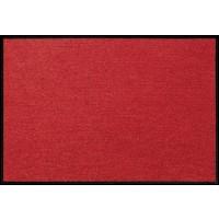 Fußmatte Salonloewe Uni rot rechteckig