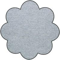 Fußmatte Salonloewe Uni silbergrau Blume