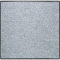 Fußmatte Uni silbergrau quadratisch