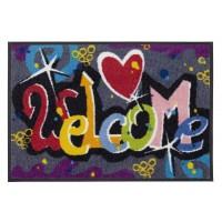 Fußmatte Salonloewe Design Welcome Graffiti