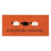 Kokosfußmatte Everbody Welcome small