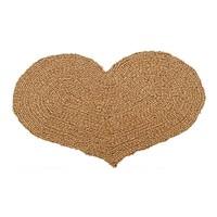 Kokosfußmatte Herz Wendematte natur