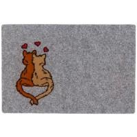 Fußmatte Lako Noblesse verliebte Katzen