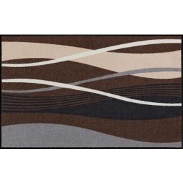 Fußmatte Salonloewe Design Wellen Beige/Grau