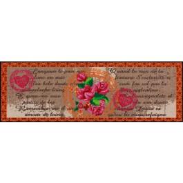 Fußmatte Salonloewe Design Mon Amour Orange 60cm x 180cm