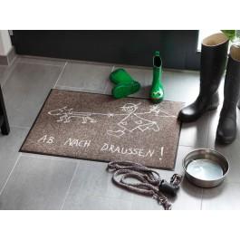 Fußmatte Salonloewe Design Ab nach draussen