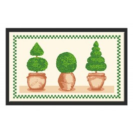 Fußmatte Deco & Wash Buchsbäume