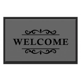 Fußmatte Deco & Wash Welcome grau