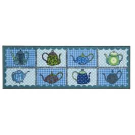 Fußmatte Salonloewe Eva Maria Nitsche Blue Teapots 60 cm x 180 cm