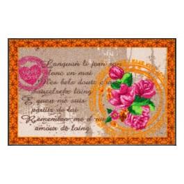 Fußmatte Salonloewe Design Mon Amour Orange 50cm x 75cm