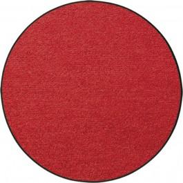 Fußmatte Salonloewe Uni rot rund