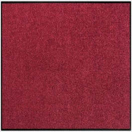 Fußmatte Salonloewe Uni weinrot quadratisch