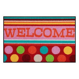 Fußmatte Salonloewe Design Welcome Funny Dots