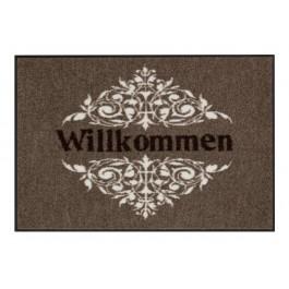 Fußmatte Salonloewe Design Willkommen Ornament