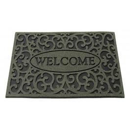 Gummifußmatte Welcome