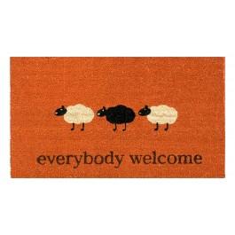 Kokosfußmatte Everybody Welcome