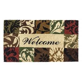 Kokosfußmatte Welcome Mosaik
