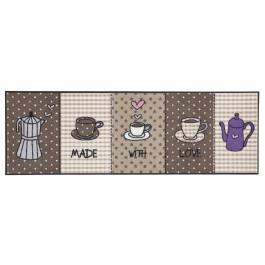 """Fußmatte Salonloewe Design """"Made with Love Braun"""" XXL"""