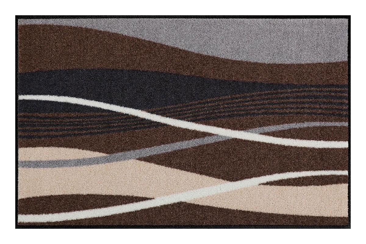 Beeindruckend Fußmatte Beige Galerie Von Fußmatte Salonloewe Design Wellen Beige/grau