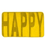 Badteppich Memory Foam Happy gelb