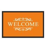 Fußmatte Deco & Wash Welcome orange