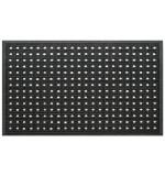 Fußmatte Gummi Basket Pin schwarz
