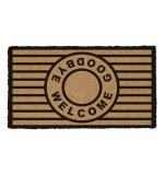 Fußmatte Welcome Goodbye Kokos