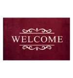 Fußmatte Clean Keeper Welcome bordeaux