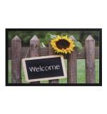 Fußmatte Image Welcome Sunflower