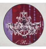 Fußmatte Salonloewe Anna Flores Lüster Royal rund 115 cm