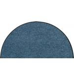 Fußmatte Salonloewe Uni denimblau halbmond